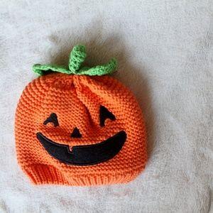 Carter's 3-9 Month Pumpkin Hat Halloween Infant